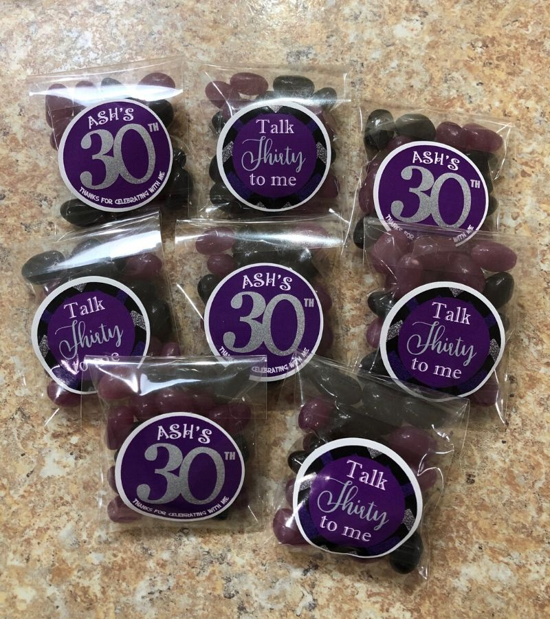 personalised 30th party favours