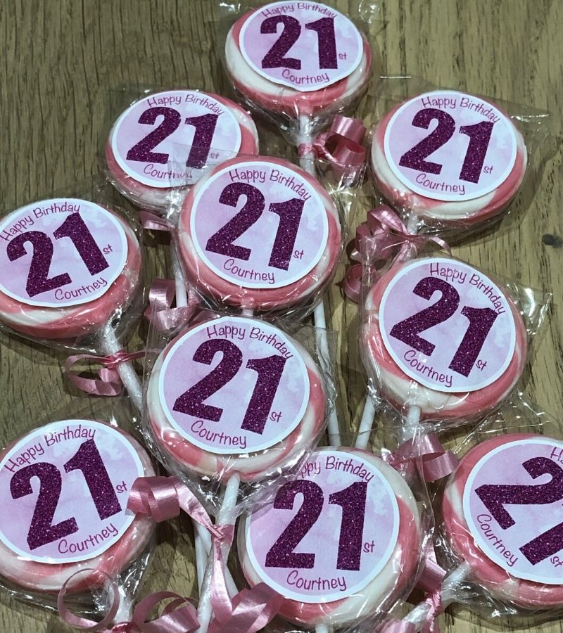 personalised 21st party favours
