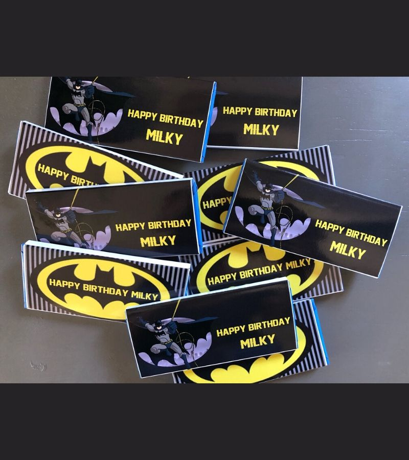 personalised Batman party favours