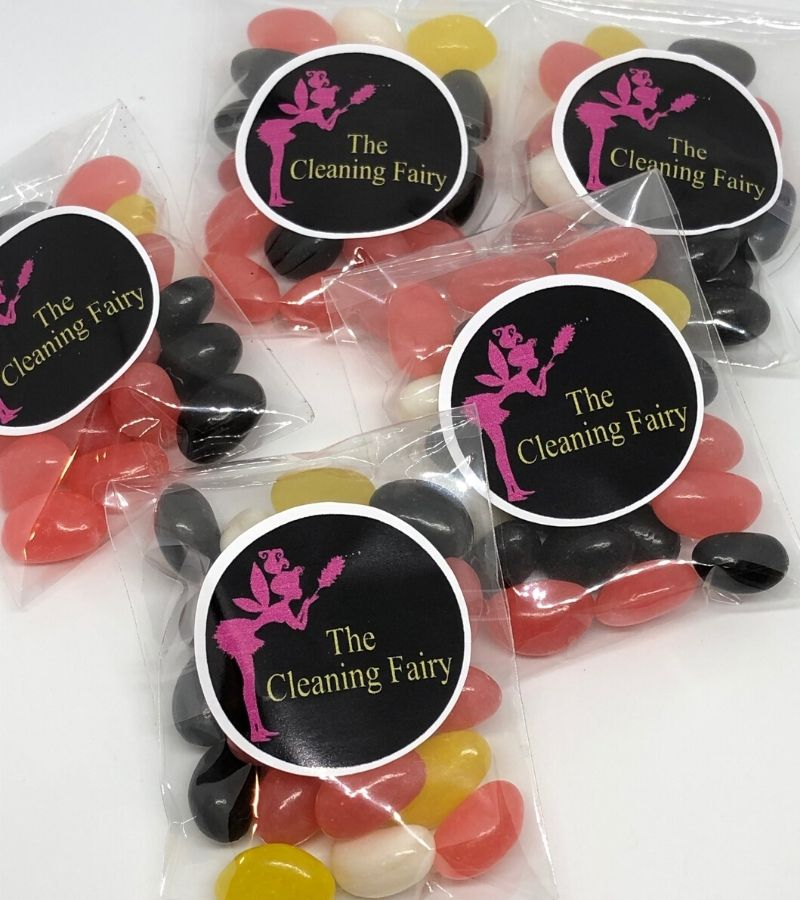 Personalised corporate jelly bean bags