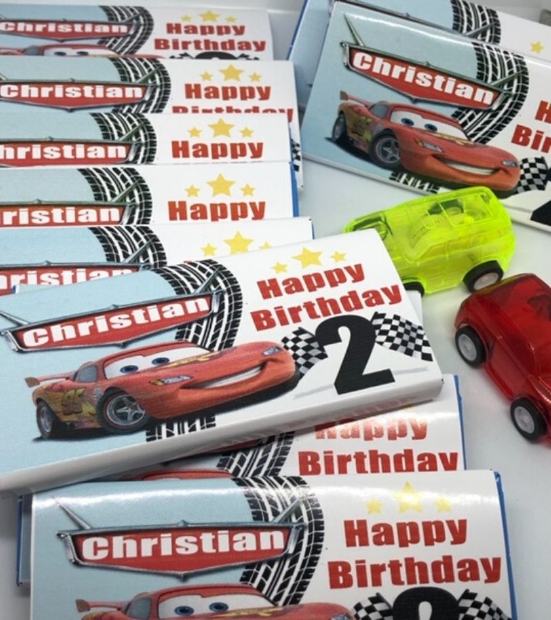 personalised Cars Party favours