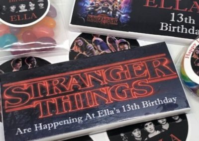 personalised stranger things party favours