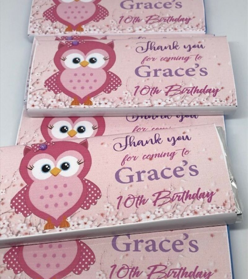personalised kids party favours