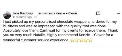 Kenzie and clover testimonial 4