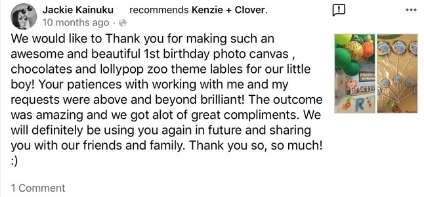 Kenzie and clover testimonial 5